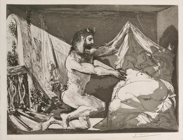Pablo Picasso (1881-1973) Faune devoilant une femme