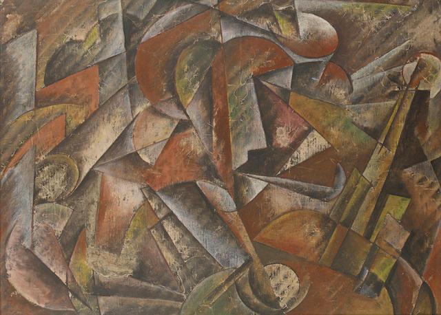 Boris Valentinovich Shaposnikov (1890-1956) Musician 40.2 x 54.4 cm. (15 7/8 x 21 3/8 in.)