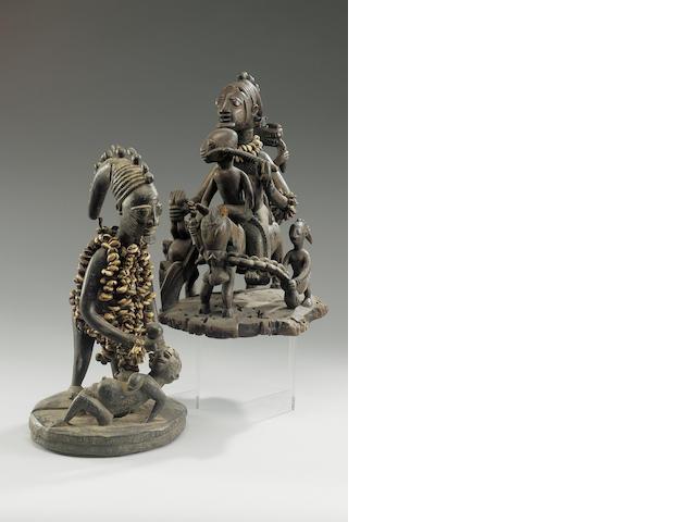 Two Yoruba Figures Nigeria