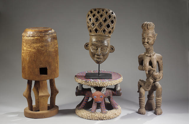 A Bangwa wood Maternity Figure Cameroons