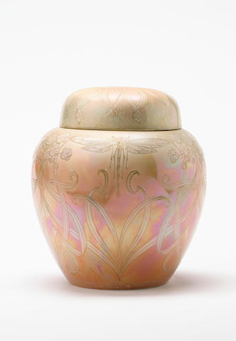 Walter Slater, attributed, for Shelley, circa 1915 A Lustre Ginger Jar and Cover