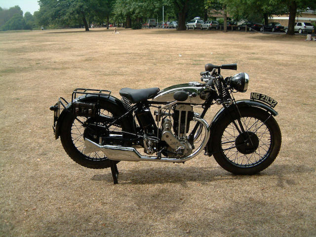 1932 Grindlay Peerless 500cc Model O5  Frame no. B1194 Engine no. KOH1580S