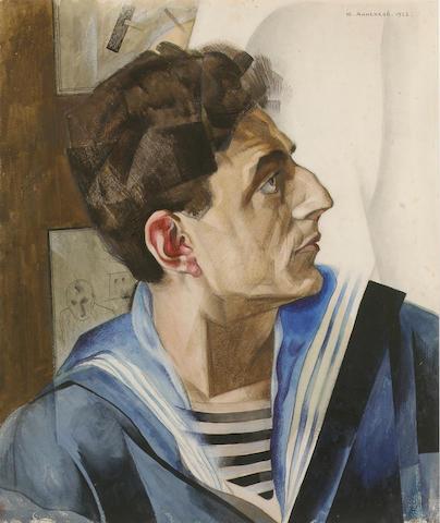 Yuri Pavolovich Annenkov (1889-1974) Portrait of Daniel Geccen 44.5 x 37.7 cm. (17 1/2 x 14 5/8 in.)