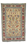 An unusual double sided part silk Souf Kashan rug Central Persia, 6 ft 8 in x 4 ft 3 in (203 x 129 cm)