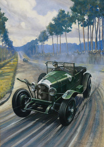 Roy Nockolds, 'Old No.7 at Le Mans 1927', commissioned by Dr Benjafield,