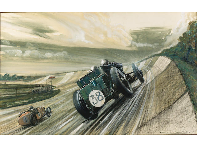 Roy Nockolds, Brooklands BRDC 500 Mile Race, 1930, commissioned by Dr Benjafield,