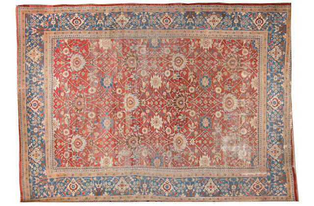 A Ziegler carpet, West Persia, 18 ft x 13 ft 1 in (549 x 399 cm) (some wear)