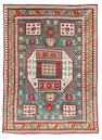 A Karachov Kazak rug Central Caucasus, 7 ft 8 in x 5 ft 10 in (234 x 177 cm) some minor restoration to one corner