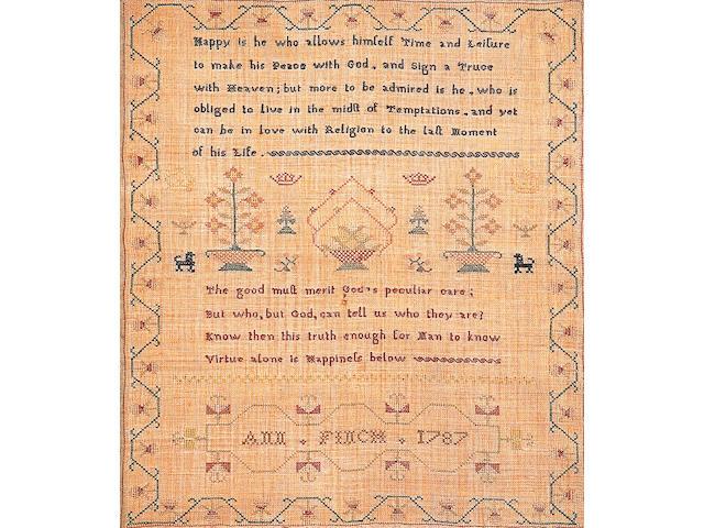 A George III sampler,