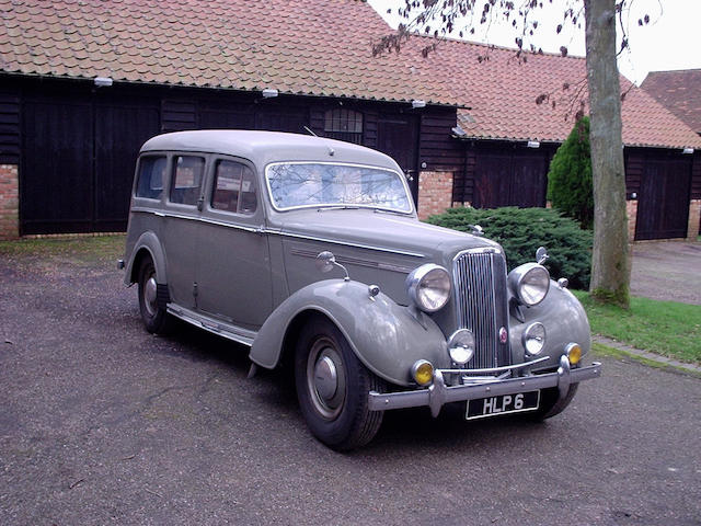 Originally supplied to Her Majesty Queen Mary,1946 Humber Super Snipe 4,086cc Estate Van  Chassis no. 8700058 Engine no. 8700058