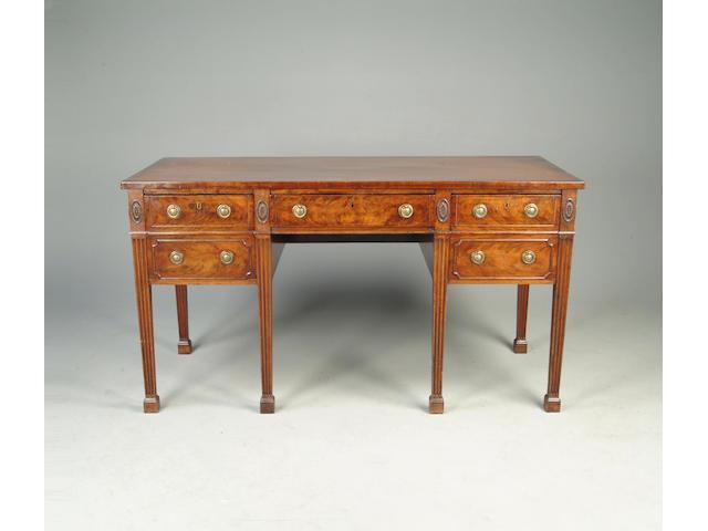 An Adam style mahogany sideboard