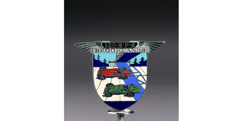 Dr Benjafield's Brooklands 120Mph badge, (4.10.30), Spencer and Co. Ltd,