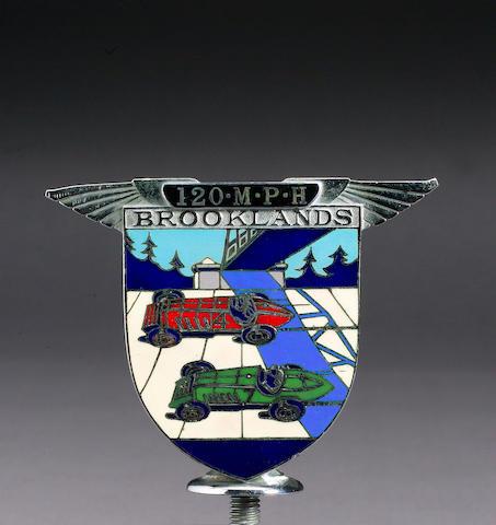 Dr Benjafield's Brooklands 120Mph badge, (4.10.30), Spencer and Co. Ltd,