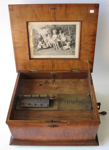A Symphonion model 121 disc musical box,