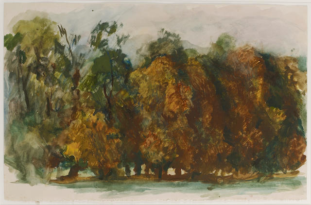 Pavel Tchelitchew (1898-1957) Autumn Trees 32.4 x 50 cm. (12 3/4 x 19 5/8 in.)