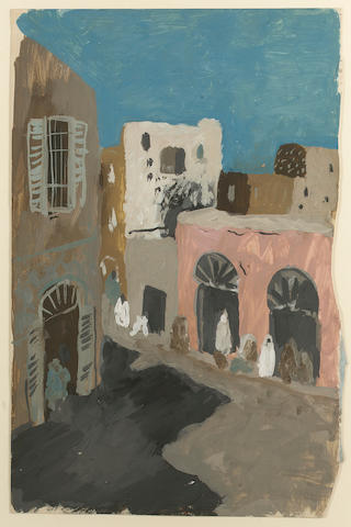 Pavel Tchelitchew (1898-1957) Tunis Street Scene 49.8 x 32.5 cm. (19 5/8 x 12 3/4 in.)