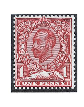 1912 (Aug) wmk. Simple Cypher Die 2: 1d. scarlet, variety watermark inverted and reversed, fine unmounted mint, rare. R.P.S. Certificate (1983). S.G. Spec. N10(1)d, unpriced.