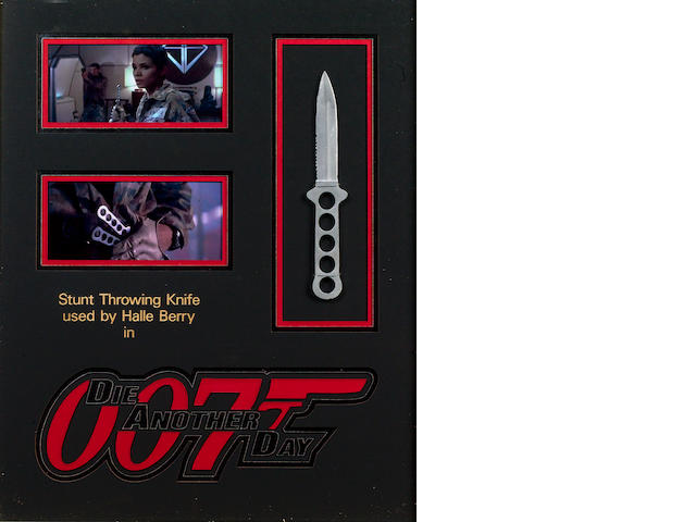 A prop stunt throwing knife used by Halle Berry in 'Die Another Day',