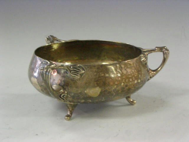 Elkington & Co., A silver sugar bowl,