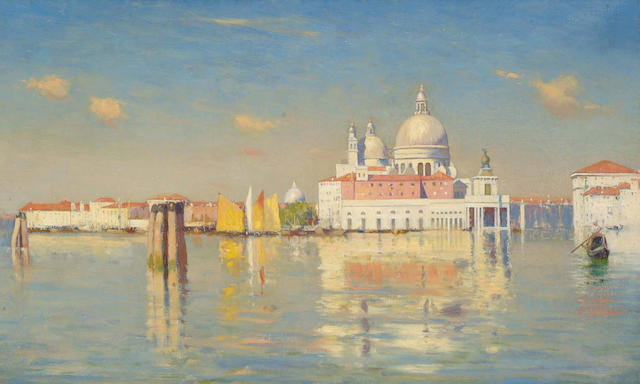 Attributed to William Logsdail (British, 1859-1944) The Entrance to the Grand Canal,
