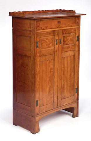 Austrian, cicra 1910, A satin birch gentleman's cabinet,