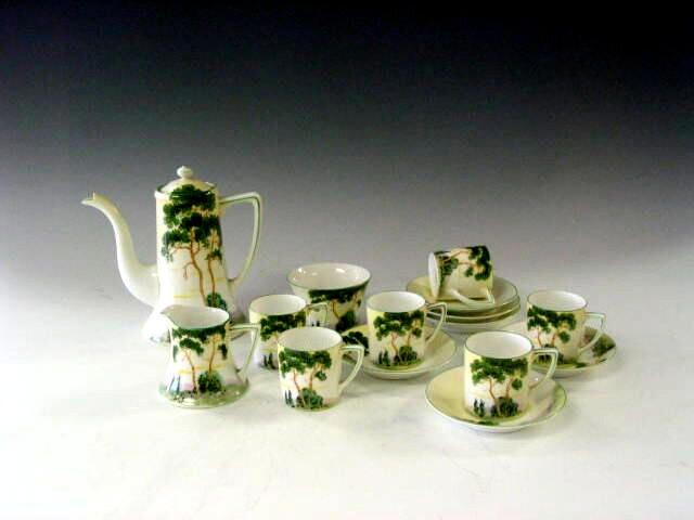 Noritake, A six piece coffee set,