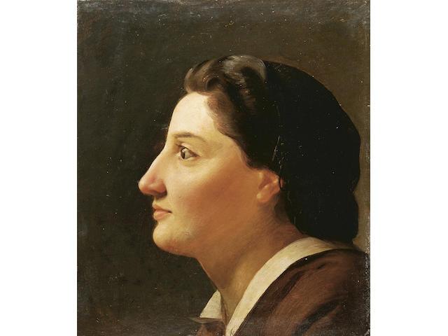 Nicholaos Kounelakis (Greek 1829-1869) Zoe Cabbani 26 x 23 cm. (10 1/2 x 9 in.)