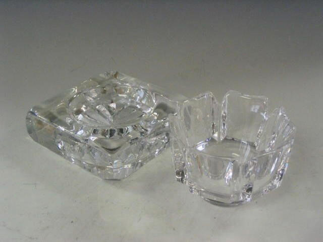 Orrefors, A six sided clear glass bowl,