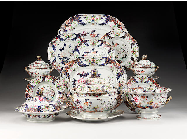 A John Ridgway & Co. Imperial Stone China part dinner service, circa 1830