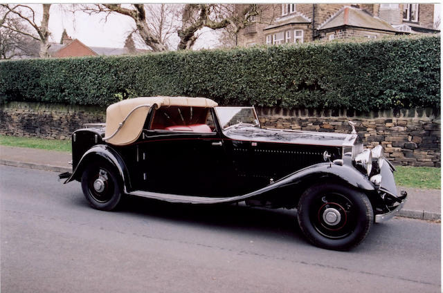 1933 Rolls-Royce 20/25hp Three-Position Owen Sedanca Coupé  Chassis no. GBA27 Engine no. R4X