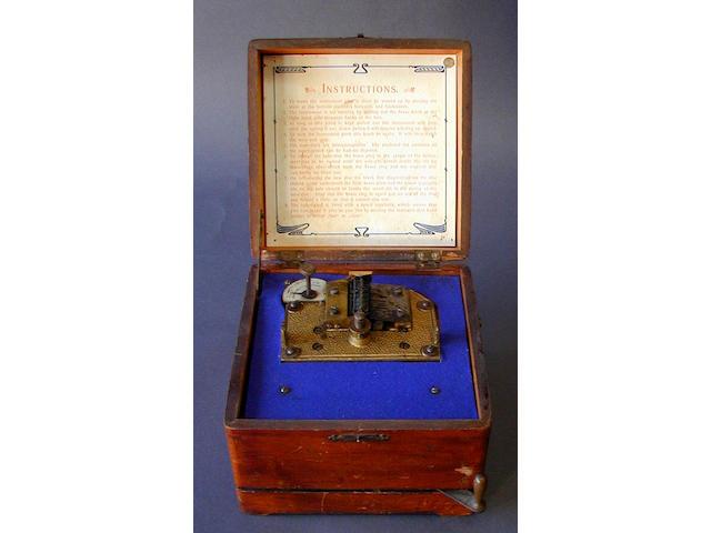 A Coronation disc musical box,