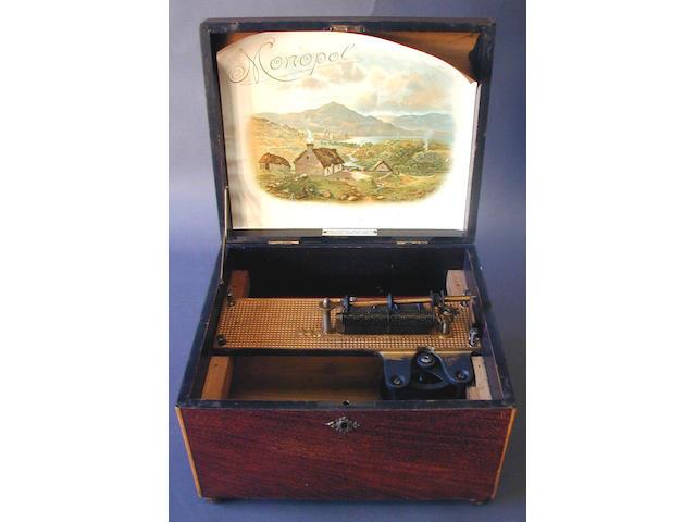A Monopol model 42 disc musical box,