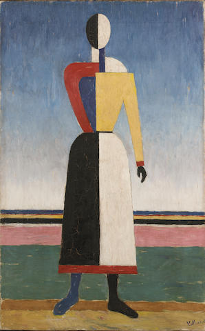 Kazimir Malevich (1878 - 1935) Figure 70 x 44.5 cm.