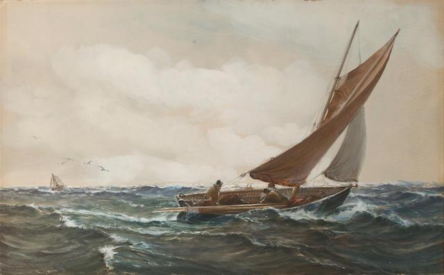 Montague Dawson (British, 1895-1973) Into the wind 45.7 x 73.7cm. (18 x 29in.)
