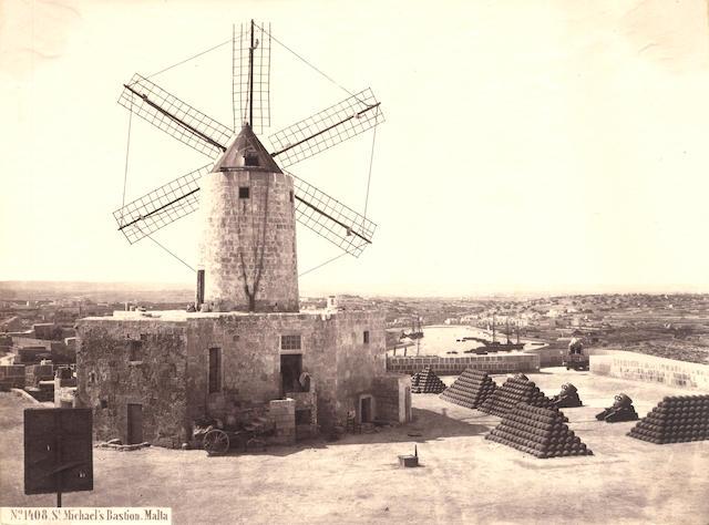 MALTA Georgio Sommer. 'Michael's Bastion', c.1865