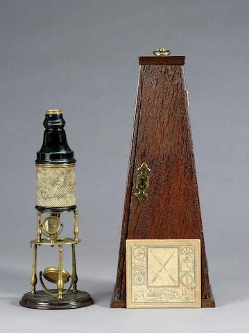 An Edmund Culpeper Compound Microscope, English, circa 1730,