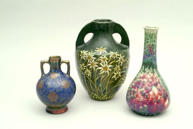 A Ruskin high fired bottle vase