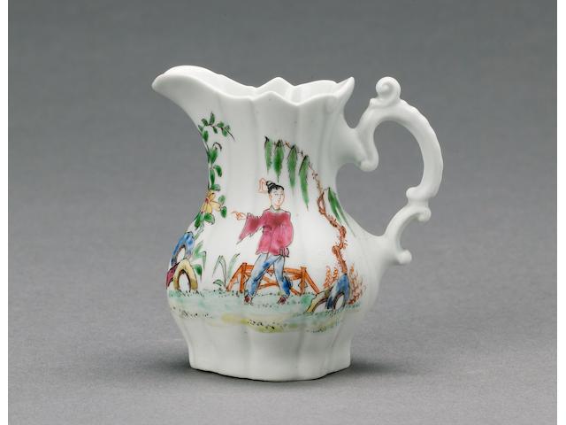 A fine Worcester cream jug circa 1753