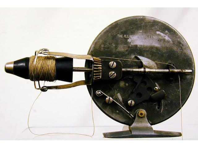 A rare Illingworth No 1 threadline casting reel,
