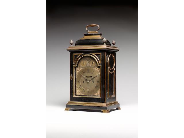 A fine gilt brass mounted ebonised quarter repeating bracket clock William Allam, London