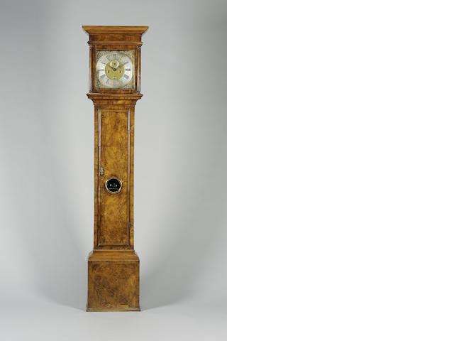An early 18th century walnut longcase clock Windmills, London