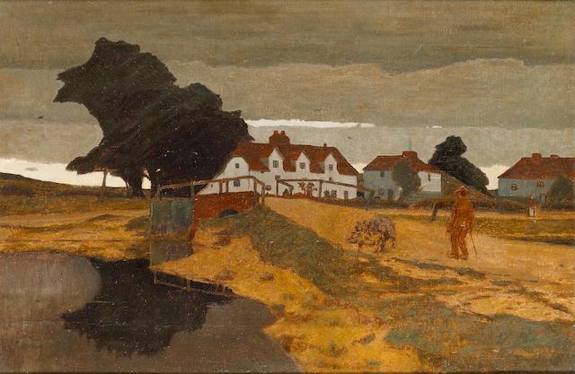 Robert Polhill Bevan (1865-1925) The Farm 31 x 46 cm. (12 1/4 x 18 1/8 in.)
