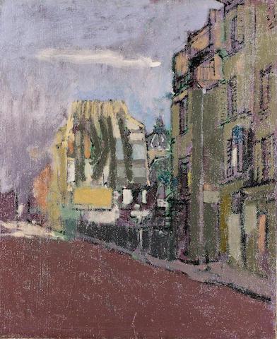 Walter Richard Sickert R.A. (1860-1942) Street Scene in Paris 61 x 50 cm. (12 x 19 3/4 in.)