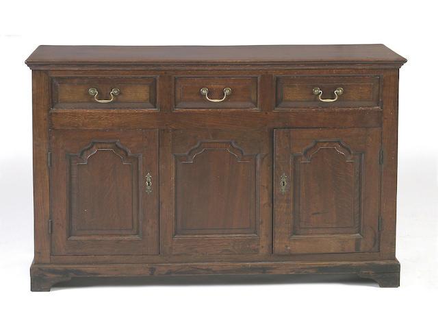 An oak low dresser,
