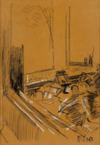 Walter Richard Sickert R.A. (1860-1942) Orchestra Pit 34 x 24 cm. (13 3/8 x 9 1/2 in.)