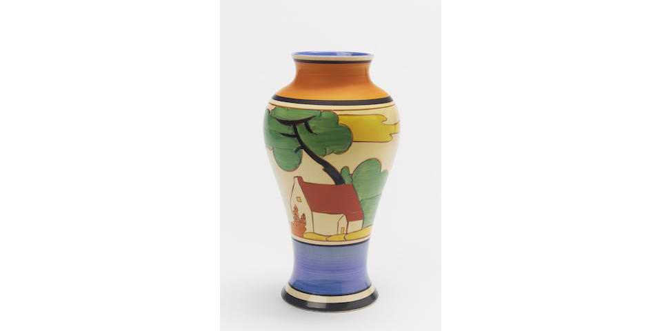 'Red Roofs'  A Meiping Vase