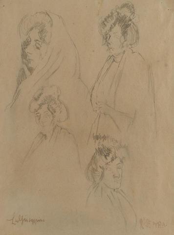 Walter Richard Sickert R.A. (1860-1942) La Guiseppina 30 x 22 cm. (11 3/4 x 8 5/8 in.)