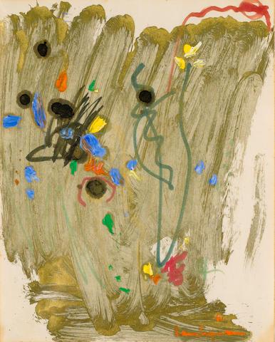 Hans Hofmann (1880-1966) Untitled 33.5 x 27 cm. (13 1/4 x 10 5/8 in.)