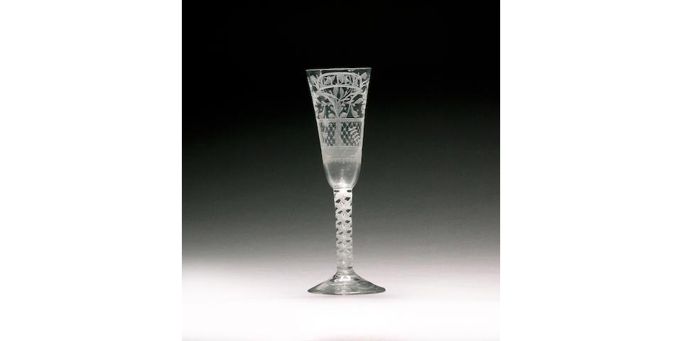A rare cider glass circa 1760