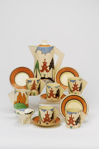 'Kew'  A Conical Coffee Set